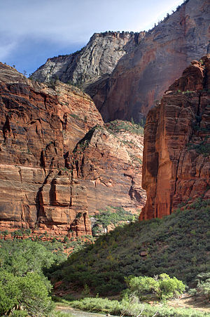 English: View from Zion National Park's Big Be...