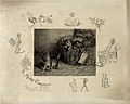 Three kittens are climbing out of a straw-filled hamper; vig Wellcome V0020953.jpg