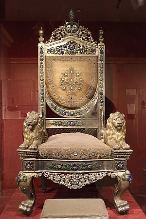 Narayan dynasty - Throne of Raja of Benaras, at National Museum, Delhi.