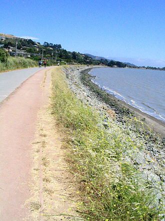 Tiburon, California - The former railroad grade now forms part of the San Francisco Bay Trail, used by hikers and cyclists