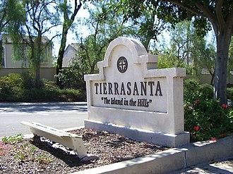 Tierrasanta, San Diego - The Tierrasanta sign located on Santo Road