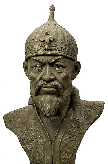Central Asian Turko-Mongol conqueror Timur sacked the city and spared almost no one. Timur reconstruction03.jpg