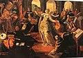 Tintoretto - Santa Caterina disputa con i dottori di Alessandria alla presenza di Massenzio, 1550 circa.jpg