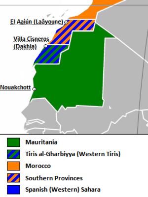 Tiris al-Gharbiyya - Image: Tiris al Gharbiyya Location en