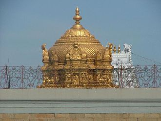 Vimana (architectural feature) - Golden shrine of Tirumala Venkateswara Temple