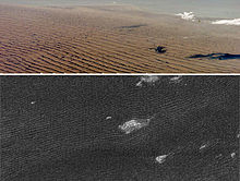 Titan Mond Oberfläche