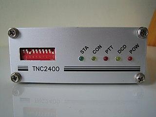 Packet radio form of amateur radio data communications using the AX25 protocol
