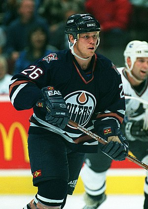 Todd Marchant - Image: Todd Marchant Edmonton Oilers 1997