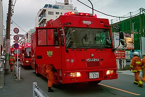 Geography of firefighting - Vehicles of the Tokyo Fire Department.