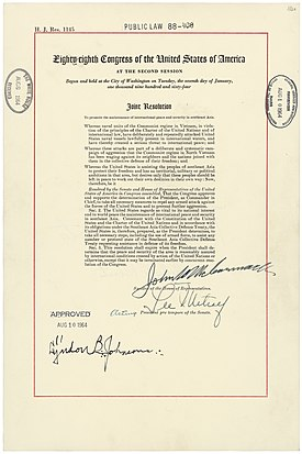 Gulf of Tonkin Resolution - Wikipedia, the free encyclopedia