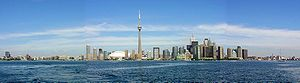 Geography of Toronto - Toronto's skyline from its harbour in 2005
