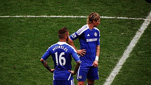 2012 FA Cup Final - Raul Meireles (left) and Fernando Torres (right) during Chelsea's Sixth Round match against Leicester City