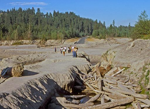 Toutle River Bridge Destruction After Mt. St. Helens Eruption-1