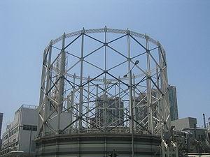 The Hong Kong and China Gas Company - The gasometer of the company at Ma Tau Kok, Hong Kong.