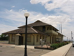 Willcox Town Hall, a former Southern Pacific Railroad station.
