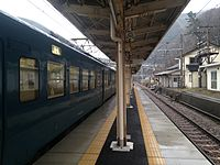Train bounding for Naoetsu Station stopping at Oyashirazu Station.JPG