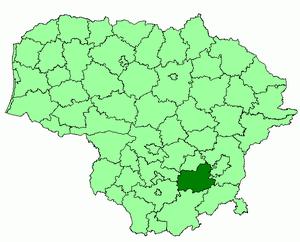Trakai District Municipality - Image: Trakai district location
