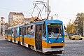 Tram in Sofia near Russian monument 061.jpg