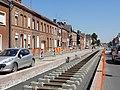 Travaux de la branche vers Vieux-Condé de la ligne B du tramway de Valenciennes en mai 2012 (123).JPG