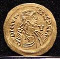 Tremisse di cunicptert con s. michele, II tipo, ticinum-pavia 688-700 ca. 02.jpg