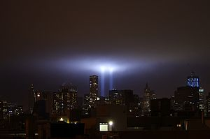 Tribute in Light - In 2011, as seen from the East Village.