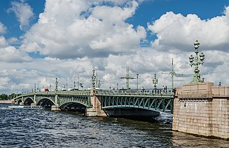 Trinity Bridge, Saint Petersburg - Image: Trinity Bridge in Saint Petersburg