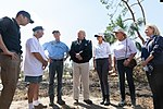 President Donald J. Trump and First Lady Melania Trump, alongside Florida Governor Rick Scott and his wife Mrs. Ann Scott, tour the Lynn Haven Community in Lynn Haven, Fla. Monday, Oct. 15, 2018, and meet with the residents impacted by Hurricane Michael.