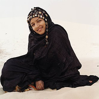 Hijab - A young Tuareg woman in Mali wearing a hijab