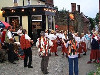 Clog dancing - Ladies North West Clog Morris in Upnor, Kent.