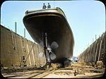 Tug boat in dry dock (3708635666).jpg