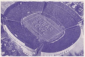 Sugar Bowl - Sugar Bowl in Tulane Stadium in the 1940s