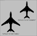 Tupolev Tu-104B and Tu-124 top-view silhouettes.png