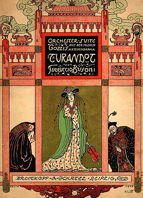 Cover to the score of the Turandot Suite, designed by Emil Orlík, and first published in 1906
