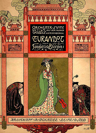 Turandot Suite - Cover to the score, designed by Emil Orlík, and first published in 1906