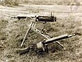 Two captured German Maxim machine guns, 77th Division salvage dump, France, 1918 (28648770585).jpg