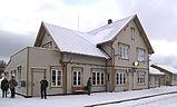 Der Bahnhof von Tynset, Norwegen
