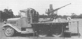 20 mm AA Machine Cannon Carrier Truck - Image: Type 98 20 mm AA Truck