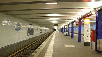 Spittelmarkt (Berlin U-Bahn) - Platform in 2007 after renovation
