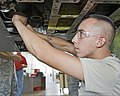U.S. Air Force Airman 1st Class Keith Stanton, with the 364th Training Squadron, practices removing and installing hydraulic components on a T-38 Talon aircraft at Sheppard Air Force Base, Texas, Sept 110923-F-NF756-012.jpg