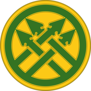 220th Military Police Brigade - The 220th Military Police Brigade's combat service identification badge (CSIB)