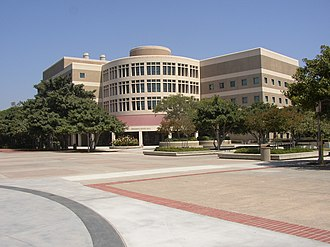 Frederick Reines Hall in the School of Physical Sciences, named after one of the UCI faculty members to receive the Nobel prize UC Irvine Reines Hall.jpg