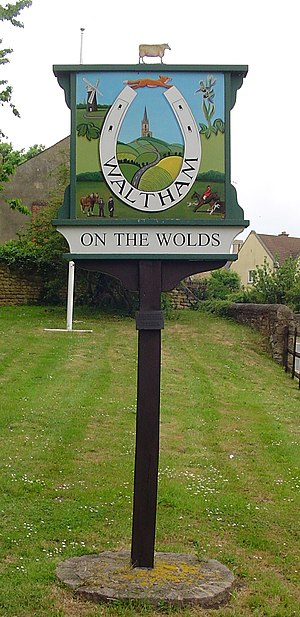 Waltham on the Wolds - Signpost in Waltham on the Wolds