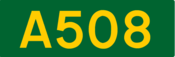 A508 road shield
