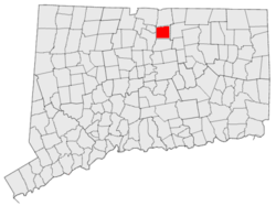 East Windsor's location in Connecticut