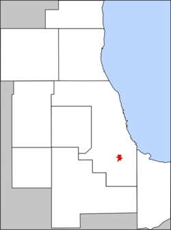 Location in the Chicago metro area