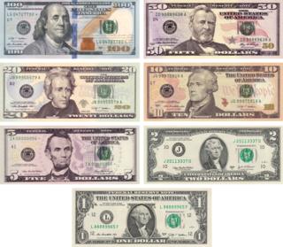 Currency of the United States of America