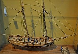 USS Hannah - Image: USS Hannah Model