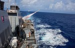 USS Benfold conducts a live fire of a harpoon missile during Valiant Shield 2016. (29387252690).jpg