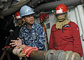 USS Blue Ridge Sailors conduct flooding drill 141105-N-YF014-030.jpg