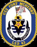 USS Fort McHenry LSD-43 Crest.png